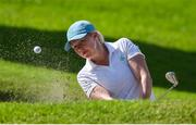 6 August 2021; Stephanie Meadow of Ireland chips out of a bunker on the second green during round three of the women's individual stroke play at the Kasumigaseki Country Club during the 2020 Tokyo Summer Olympic Games in Kawagoe, Saitama, Japan. Photo by Brendan Moran/Sportsfile