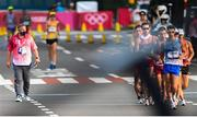 5 August 2021; Race official Pierce O'Callaghan during the men's 20 kilometre walk final at Sapporo Odori Park on day 13 during the 2020 Tokyo Summer Olympic Games in Sapporo, Japan. Photo by Ramsey Cardy/Sportsfile