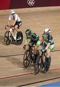 6 August 2021; Shannon McCurley, left, and Emily Kay of Ireland in action during the women's madison race at Izu velodrome on day 14 during the 2020 Tokyo Summer Olympic Games in Shizuoka, Japan. Photo by Alex Broadway/Sportsfile