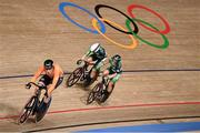 6 August 2021; Emily Kay, left, and Shannon McCurley of Ireland in action during the women's madison race at Izu velodrome on day 14 during the 2020 Tokyo Summer Olympic Games in Shizuoka, Japan. Photo by Alex Broadway/Sportsfile