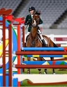 6 August 2021; Natalya Coyle of Ireland during the women's individual showjumping at Tokyo Stadium on day 14 during the 2020 Tokyo Summer Olympic Games in Tokyo, Japan. Photo by Stephen McCarthy/Sportsfile