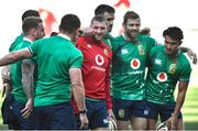 6 August 2021; Finn Russell with Conor Murray, Elliot Daly, second from right, and Marcus Smith, right, during the British and Irish Lions Captain's Run at Cape Town Stadium in Cape Town, South Africa. Photo by Ashley Vlotman/Sportsfile