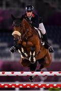 6 August 2021; Holly Smith of Great Britain riding Denver during the jumping team qualifier at the Equestrian Park during the 2020 Tokyo Summer Olympic Games in Tokyo, Japan. Photo by Brendan Moran/Sportsfile