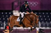 6 August 2021; Fabian Sejanes of Argentina riding Emir during the jumping team qualifier at the Equestrian Park during the 2020 Tokyo Summer Olympic Games in Tokyo, Japan. Photo by Brendan Moran/Sportsfile
