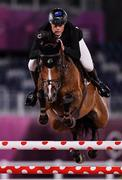 6 August 2021; Bruce Goodin of New Zealand riding Danny V during the jumping team qualifier at the Equestrian Park during the 2020 Tokyo Summer Olympic Games in Tokyo, Japan. Photo by Brendan Moran/Sportsfile