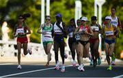 7 August 2021; A general view of the field, including Fionnuala McCormack of Ireland, second from left, in action at the Horohira Bridge during the women's marathon at Sapporo Odori Park on day 15 during the 2020 Tokyo Summer Olympic Games in Sapporo, Japan. Photo by Ramsey Cardy/Sportsfile
