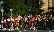 7 August 2021; A general view of the field, including Fionnuala McCormack of Ireland, far left, in action at the Horohira Bridge during the women's marathon at Sapporo Odori Park on day 15 during the 2020 Tokyo Summer Olympic Games in Sapporo, Japan. Photo by Ramsey Cardy/Sportsfile