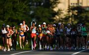 7 August 2021; A general view of the runners in action at the Horohira Bridge during the women's marathon at Sapporo Odori Park on day 15 during the 2020 Tokyo Summer Olympic Games in Sapporo, Japan. Photo by Ramsey Cardy/Sportsfile