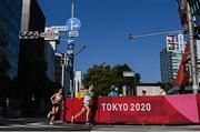 7 August 2021; Fionnuala McCormack of Ireland, right, and Jess Piasecki of Great Britain in action during the women's marathon at Sapporo Odori Park on day 15 during the 2020 Tokyo Summer Olympic Games in Sapporo, Japan. Photo by Ramsey Cardy/Sportsfile