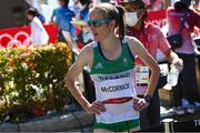 7 August 2021; Fionnuala McCormack of Ireland after finishing the women's marathon at Sapporo Odori Park on day 15 during the 2020 Tokyo Summer Olympic Games in Sapporo, Japan. Photo by Ramsey Cardy/Sportsfile