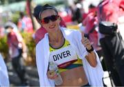 7 August 2021; Sinead Diver of Australia after finishing in tenth place in the women's marathon at Sapporo Odori Park on day 15 during the 2020 Tokyo Summer Olympic Games in Sapporo, Japan. Photo by Ramsey Cardy/Sportsfile
