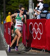 7 August 2021; Fionnuala McCormack of Ireland in action during the women's marathon at Sapporo Odori Park on day 15 during the 2020 Tokyo Summer Olympic Games in Sapporo, Japan. Photo by Ramsey Cardy/Sportsfile