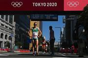 7 August 2021; Fionnuala McCormack of Ireland reacts after finishing 25th in the women's marathon at Sapporo Odori Park on day 15 during the 2020 Tokyo Summer Olympic Games in Sapporo, Japan. Photo by Ramsey Cardy/Sportsfile