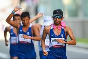 6 August 2021; Luis Angel Sanchez of Guatemala in action during the men's 50 kilometre walk final at Sapporo Odori Park on day 14 during the 2020 Tokyo Summer Olympic Games in Sapporo, Japan. Photo by Ramsey Cardy/Sportsfile