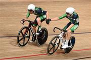 7 August 2021; Felix English, left, and Mark Downey of Ireland in action during the men's madison race at Izu velodrome on day 15 during the 2020 Tokyo Summer Olympic Games in Shizuoka, Japan. Photo by Alex Broadway/Sportsfile