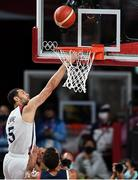 7 August 2021; Zach Lavine of USA during the men's gold medal match between the USA and France at the Saitama Super Arena during the 2020 Tokyo Summer Olympic Games in Tokyo, Japan. Photo by Brendan Moran/Sportsfile
