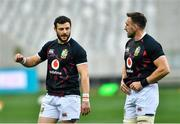 7 August 2021; Robbie Henshaw, left, and Jack Conan of British and Irish Lions before the third test of the British and Irish Lions tour match between South Africa and British and Irish Lions at Cape Town Stadium in Cape Town, South Africa. Photo by Ashley Vlotman/Sportsfile