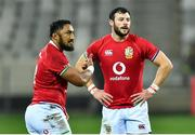 7 August 2021; Robbie Henshaw, right, and Bundee Aki of British and Irish Lions during the third test of the British and Irish Lions tour match between South Africa and British and Irish Lions at Cape Town Stadium in Cape Town, South Africa. Photo by Ashley Vlotman/Sportsfile