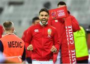 7 August 2021; Conor Murray of British and Irish Lions celebrates his team's first try during the third test of the British and Irish Lions tour match between South Africa and British and Irish Lions at Cape Town Stadium in Cape Town, South Africa. Photo by Ashley Vlotman/Sportsfile