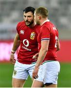 7 August 2021; Finn Russell, right, and Robbie Henshaw of British and Irish Lions during the third test of the British and Irish Lions tour match between South Africa and British and Irish Lions at Cape Town Stadium in Cape Town, South Africa. Photo by Ashley Vlotman/Sportsfile