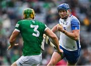 7 August 2021; Austin Gleeson of Waterford in action against Dan Morrissey of Limerick during the GAA Hurling All-Ireland Senior Championship semi-final match between Limerick and Waterford at Croke Park in Dublin. Photo by Piaras Ó Mídheach/Sportsfile
