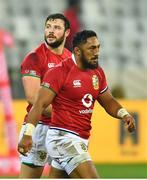 7 August 2021; Bundee Aki, right, and Robbie Henshaw of British and Irish Lions during the third test of the British and Irish Lions tour match between South Africa and British and Irish Lions at Cape Town Stadium in Cape Town, South Africa. Photo by Ashley Vlotman/Sportsfile