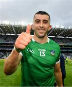 7 August 2021; Aaron Gillane of Limerick celebrates after his side's victory over Waterford in their GAA Hurling All-Ireland Senior Championship semi-final match at Croke Park in Dublin. Photo by Seb Daly/Sportsfile