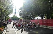 8 August 2021; A general view of runners during the men's marathon at Sapporo Odori Park on day 16 during the 2020 Tokyo Summer Olympic Games in Sapporo, Japan. Photo by Ramsey Cardy/Sportsfile