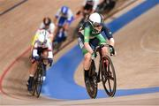 8 August 2021; Emily Kay of Ireland in action during the women's omnium tempo race at Izu velodrome on day 16 during the 2020 Tokyo Summer Olympic Games in Shizuoka, Japan. Photo by Alex Broadway/Sportsfile