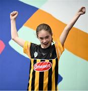 8 August 2021; Roisin Kenny, age 10, from Ballyragget, Kilkenny prior to the GAA Hurling All-Ireland Senior Championship semi-final match between Kilkenny and Cork at Croke Park in Dublin. Photo by David Fitzgerald/Sportsfile