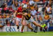8 August 2021; Padraig Walsh of Kilkenny is tackled by Shane Barrett of Cork during the GAA Hurling All-Ireland Senior Championship semi-final match between Kilkenny and Cork at Croke Park in Dublin. Photo by Ray McManus/Sportsfile