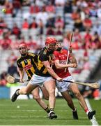 8 August 2021; Adrian Mullen of Kilkenny in action against Darragh Fitzgibbon of Cork during the GAA Hurling All-Ireland Senior Championship semi-final match between Kilkenny and Cork at Croke Park in Dublin. Photo by Harry Murphy/Sportsfile