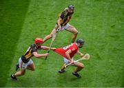 8 August 2021; Darragh Fitzgibbon of Cork in action against Adrian Mullen of Kilkenny during the GAA Hurling All-Ireland Senior Championship semi-final match between Kilkenny and Cork at Croke Park in Dublin. Photo by Daire Brennan/Sportsfile