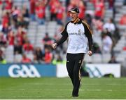 8 August 2021; Kilkenny manager Brian Cody reacts during the GAA Hurling All-Ireland Senior Championship semi-final match between Kilkenny and Cork at Croke Park in Dublin. Photo by Harry Murphy/Sportsfile