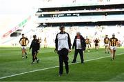 8 August 2021; Kilkenny manager Brian Cody leads his team off the field after the GAA Hurling All-Ireland Senior Championship semi-final match between Kilkenny and Cork at Croke Park in Dublin. Photo by Harry Murphy/Sportsfile