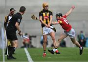 8 August 2021; Richie Reid of Kilkenny in action against Jack O'Connor of Cork during the GAA Hurling All-Ireland Senior Championship semi-final match between Kilkenny and Cork at Croke Park in Dublin. Photo by Piaras Ó Mídheach/Sportsfile