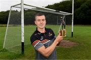 10 August 2021; Jamie Barron of Waterford with his PwC GAA/GPA Hurler of the Month award for July at his home club The Nire-Fourmilewater GAA in Ballymacarbry, Waterford. Photo by Matt Browne/Sportsfile