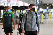 10 August 2021; Ronan Finn of Shamrock Rovers at Dublin Airport prior to his side's departure to Albania for their UEFA Europa Conference League third qualifying round second leg match against Teuta. Photo by Seb Daly/Sportsfile