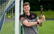 10 August 2021; Matthew Ruane of Mayo with his PwC GAA/GPA Footballer of the Month award for July at his home club Breaffy GAA in Breaffy, Mayo. Photo by Sam Barnes/Sportsfile