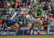 7 August 2021; Gearóid Hegarty of Limerick in action against Kieran Bennett of Waterford during the GAA Hurling All-Ireland Senior Championship semi-final match between Limerick and Waterford at Croke Park in Dublin. Photo by Piaras Ó Mídheach/Sportsfile