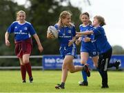 12 August 2021; Lyra Harrington age 11, in action during the Bank of Ireland Leinster Rugby Summer Camp at Newbridge RFC in Newbridge, Kildare. Photo by Matt Browne/Sportsfile