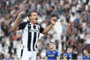 12 August 2021; Stefan Schwab of PAOK celebrates after scoring the opening goal of the match during the UEFA Europa Conference League Third Qualifying Round Second Leg match between PAOK and Bohemians at Toumba Stadium in Thessaloniki, Greece. Photo by Argiris Makris /Sportsfile