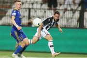12 August 2021; Andrija Živkovic of PAOK in action against Andy Lyons of Bohemians during the UEFA Europa Conference League Third Qualifying Round Second Leg match between PAOK and Bohemians at Toumba Stadium in Thessaloniki, Greece. Photo by Argiris Makris /Sportsfile