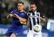12 August 2021; Anto Breslin of Bohemians in action against Andrija Živkovic of PAOK during the UEFA Europa Conference League Third Qualifying Round Second Leg match between PAOK and Bohemians at Toumba Stadium in Thessaloniki, Greece. Photo by Argiris Makris /Sportsfile