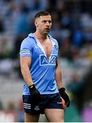 14 August 2021; Philip McMahon of Dublin following a tussle during the GAA Football All-Ireland Senior Championship semi-final match between Dublin and Mayo at Croke Park in Dublin. Photo by Ramsey Cardy/Sportsfile
