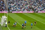 14 August 2021; Jonny Cooper of Dublin in action against Ryan O'Donoghue of Mayo during the GAA Football All-Ireland Senior Championship semi-final match between Dublin and Mayo at Croke Park in Dublin. Photo by Ramsey Cardy/Sportsfile