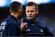 14 August 2021; Dublin manager Dessie Farrell, right, and selector Darren Daly during the GAA Football All-Ireland Senior Championship semi-final match between Dublin and Mayo at Croke Park in Dublin. Photo by Ramsey Cardy/Sportsfile