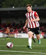 15 August 2021; Cameron McJannet of Derry City during the SSE Airtricity League Premier Division match between Derry City and Dundalk at Ryan McBride Brandywell Stadium in Derry. Photo by Ben McShane/Sportsfile