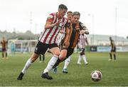 15 August 2021; Eoin Toal of Derry City and Sean Murray of Dundalk during the SSE Airtricity League Premier Division match between Derry City and Dundalk at Ryan McBride Brandywell Stadium in Derry. Photo by Ben McShane/Sportsfile