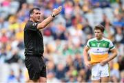 15 August 2021; Referee Sean Hurson during the 2021 Eirgrid GAA Football All-Ireland U20 Championship Final match between Roscommon and Offaly at Croke Park in Dublin. Photo by Stephen McCarthy/Sportsfile